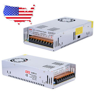 DC 12V 40A 480W Universal Regulated Switching Power Supply Adapter AC 110-220V