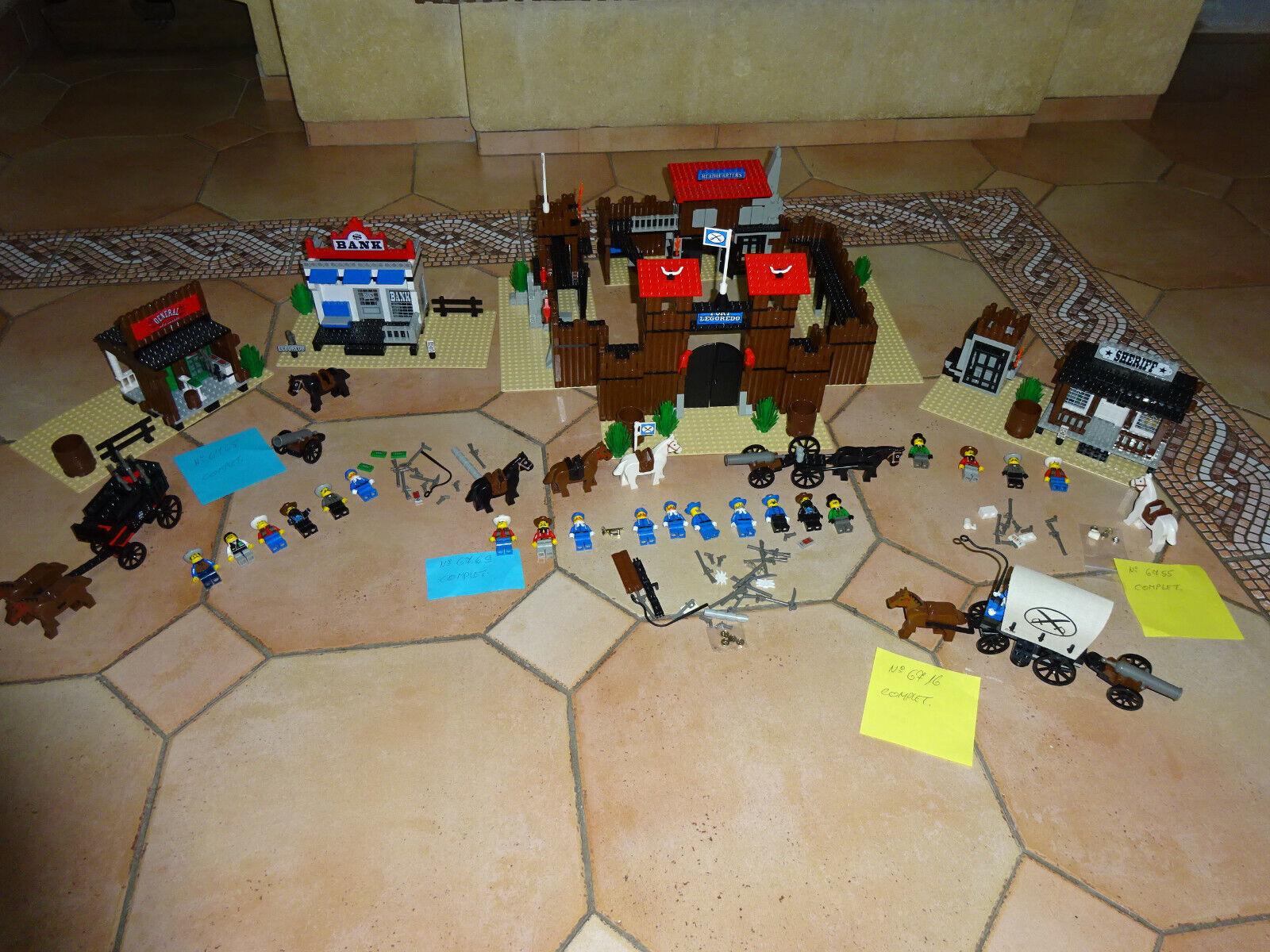 SOUPER LOT Lego Western 6769 - 6755 -6716- 6765   COMPLET A 100 %