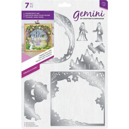Gemini crear una tarjeta Papercraft 3D efecto metal Die-felices para siempre