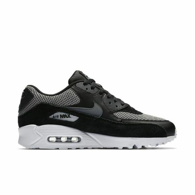 the latest fdaac 124ab Nike Air Max 90 Essential Black Dark Grey 537384-075 Mens Running Shoes Sz  8.5
