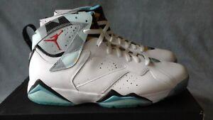 0bdd69a4b25 2015 Nike Air Jordan 7 Retro N7 White Ice Blue 744804-144 Size 12 | eBay