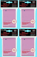 240 Ultra Pro Small Pink Deck Protector Card Sleeves 4 Packs Yugioh Gaming Size