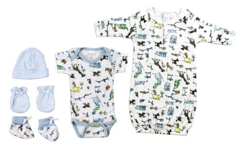 Newborn Bambini Newborn Baby Boys 5 Pc Layette Baby Shower Gift Set LS/_0079