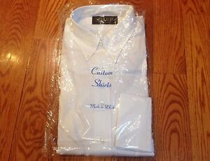 Stafford white dress shirt custom size classic fit super for Stafford dress shirts fitted