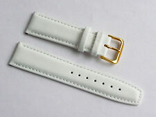 Replacment Quality Lug Size 22mm White Genuine Leather Strap GUESS
