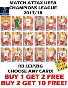 MATCH ATTAX UEFA CHAMPIONS LEAGUE 2017//18 RB LEIPZIG CHOOSE ANY CARD 73-90