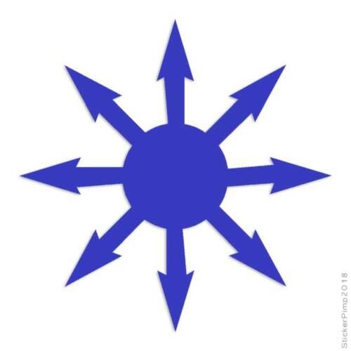 Size #157 Symbol Chaos Sun Decal Sticker Choose Color