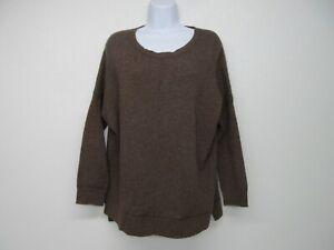 Vince Dolman Sleeve Sweater Brown Wool Yak Hair Size Women's XS