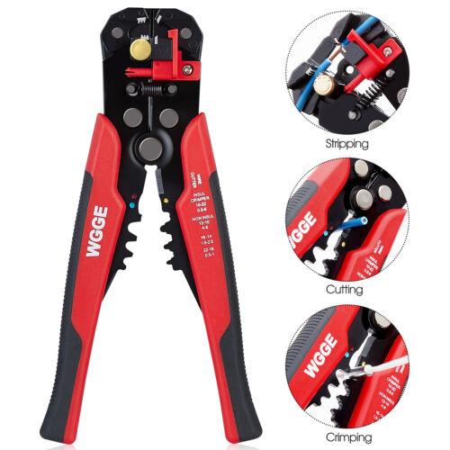 """WGGE WG-014 Self-Adjusting Insulation Wire Stripper//cutter//crimper tool 8/"""""""