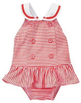 NWT Gymboree Gazebo Party Floral Gingham Patchwork Swimsuit 1PC Baby Girl