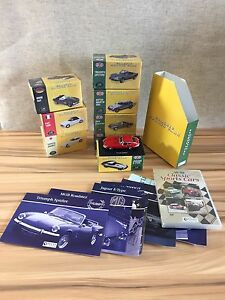 8-X-Classic-Sports-Cars-1-43-7-Sealed-Atlas-Editions-Die-Cast-Model-Bundle