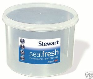 Stewart Sealfresh Plastic Round Airtight Food Jar Cake Storage