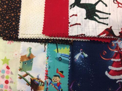 """Tela cuadrados paquete de encanto 5/"""" X 30 Piezas Variedad Navidad material 8 Diseños"""