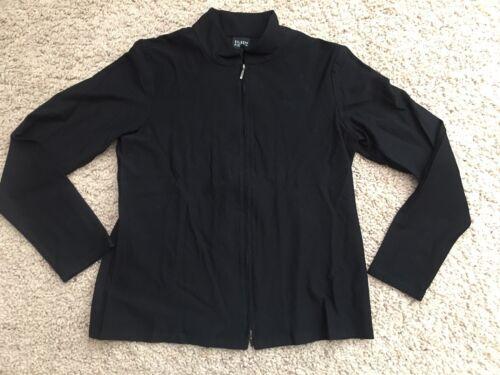 glissière à noir Mandarin Fisher taille Xs d'Eileen tricot Veste Col en légère BqZfZwxt