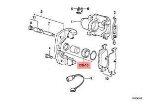 Front Disc Brake Caliper Repair Kit Fits BMW X5 Z3 E53 E39 E36 E34 E32 1986