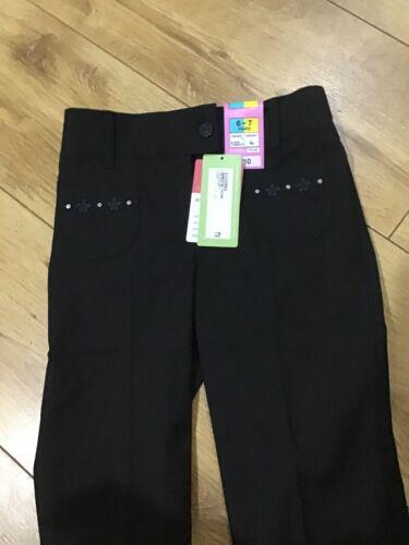 M/&s School brodé Pantalon Noir 6//7 Ans BNWT