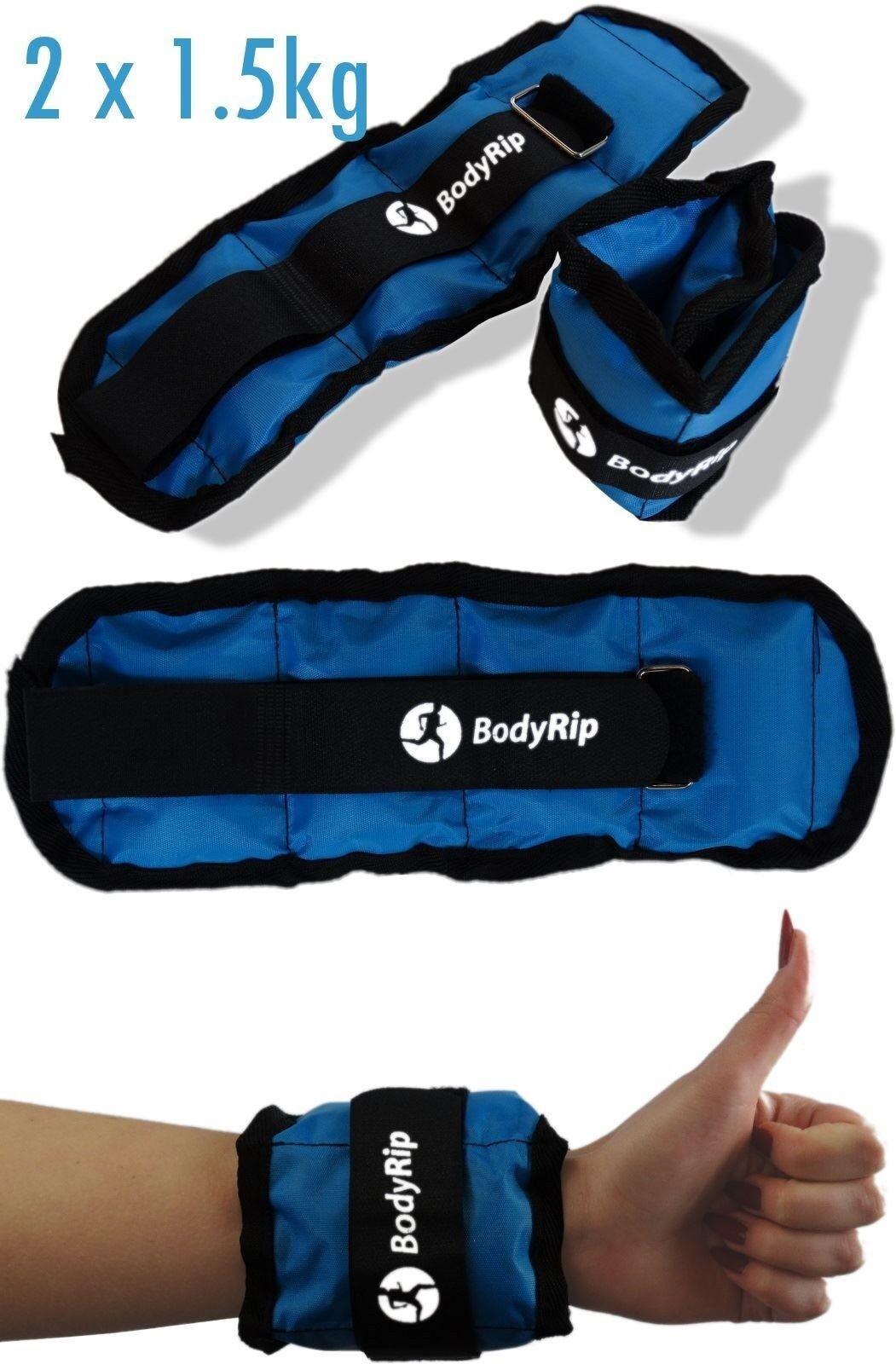 Handgelenk Knöchel Bein Hand Gewichte RieSie 2 X 1,5 kg │ Fitness Verstellbar