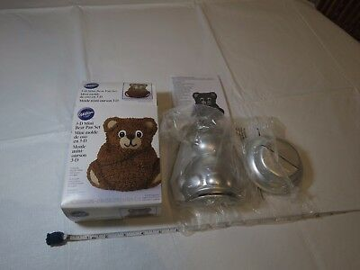 Wilton 3-D 3D mini bear pan set stand up NEW opened package baking teddy Panda