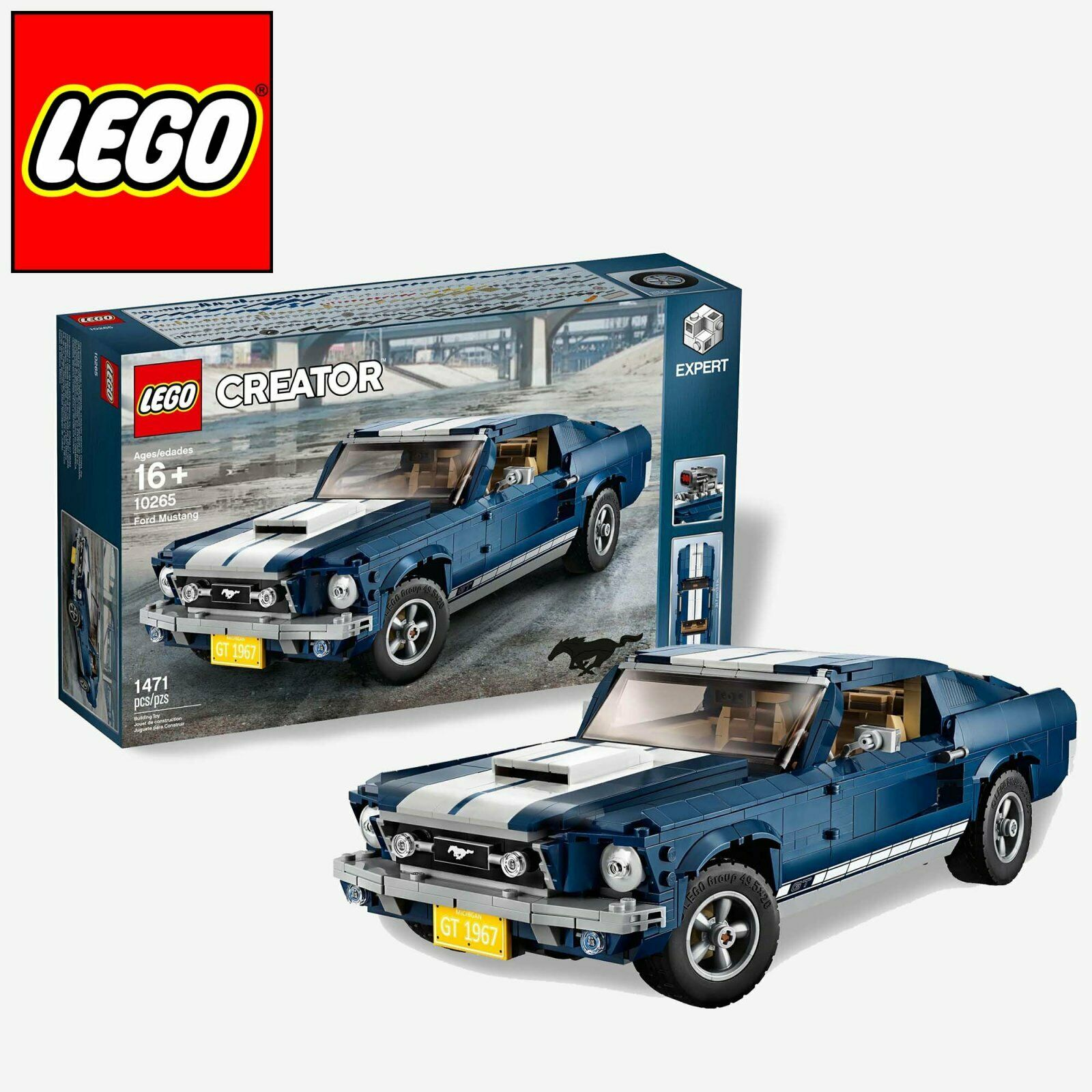 Lego Creator Creator Creator 10265 Ford Mustang 1960 Model 2019 Release 1471 pcs New In Box 0486cc