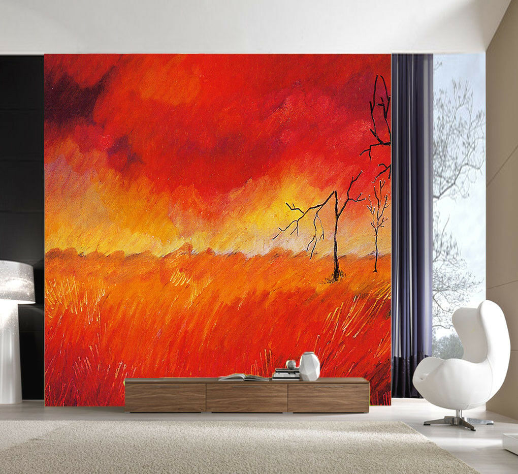 3D Roter Flammen Baum 7 Tapete Wandgemälde Tapete Tapeten Tapeten Tapeten Bild Familie DE Summer | Spezielle Funktion  | Clearance Sale  | Offizielle  94fa58