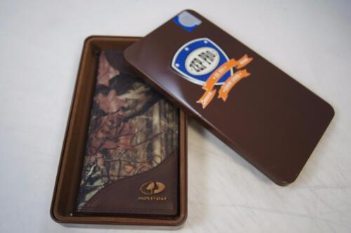 ZEP-PRO LSU Tigers Men/'s Leather /& Nylon MOSSY OAK Camo Wallet TIN GIFT BOX
