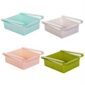 Kitchen-Slide-Freezer-Fridge-Space-Saver-Shelf-Holder-Box-Rack-Organizer-S3N9