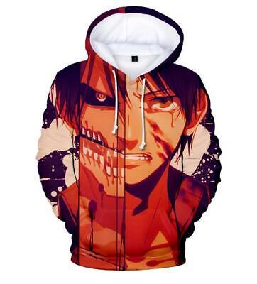 Gewissenhaft Shingeki No Kyojin Attack On Titan Kapuzen Sweatshirt Hoodie Pullover Pulli