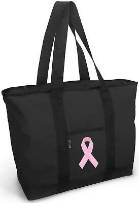 BREAST CANCER INSPIRED CUSTOM MADE ZIPPERED TOTE OVERNIGHT TRAVEL SPORTS GYM BAG