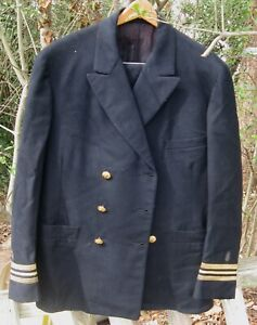 Vtg US NAVY Medical Dental Double Breasted Blue Uniform Jacket w/Pants Lt Comm?