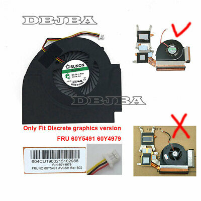 Heatsink 60Y5492  60Y5491 Genuine New Lenovo ThinkPad T510 T510i CPU Fan