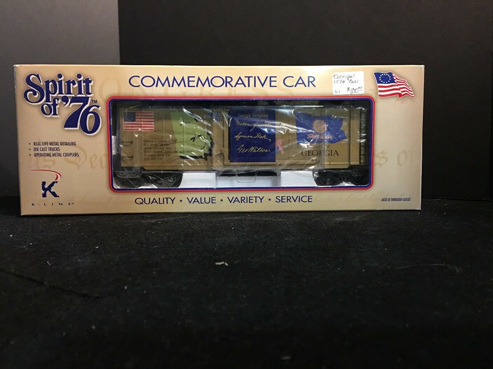 SPIRIT 76  COMMEMORATIVE CAR  STATE OF GEORGIA O GAUGE K761-7604