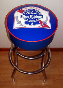 Image is loading Pabst Blue Ribbon Beer Sign Bar Stool Stools