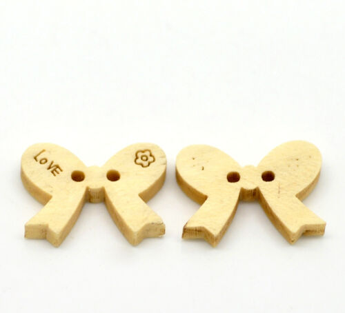 30 Botones de arco de madera 18mm X 15mm tarjetas ~ ~ Tejer Boda ~ álbum de recortes 11D