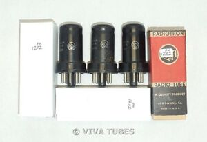 NOS-Matched-Trio-3-RCA-USA-JAN-CRC-12SK7-VT-131-Metal-Vacuum-Tubes-100