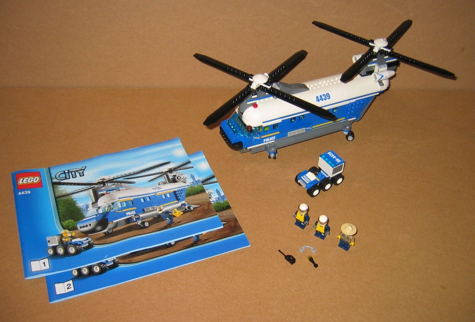 4439 LEGO Heavy Duty Helicopter – 100% Complete w Instructions EX COND 2012