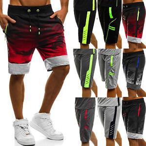 Mens-Jogger-Shorts-Jogging-Sports-Gym-Half-Pants-Summer-Casual-Bottoms-Trousers