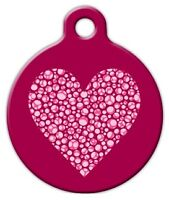 Valentine Heart - Custom Personalized Pet Id Tag For Dog And Cat Collars