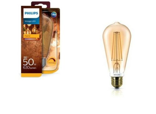 Philips LED Vintage ST64 GOLD Filament E27 Lampe dimmbar 8W 360° 2200K wie 50W