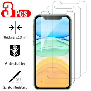 3-Pack-For-iPhone-11-Pro-X-XR-XS-Max-8-7-Plus-Tempered-Glass-Screen-Protector