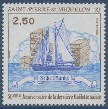 SAINT PIERRE ET MIQUELON N°492** Bateau, Voilier TB, 1988  Sailing Boat MNH