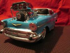 1957 chevy TOO COOL big BLOWER .1/18 muscle machine M2 series  car opened box