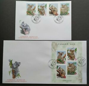 2002-Taiwan-Cute-Animal-Koala-Bear-FDC-pair-2