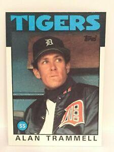 Details About 1986 Topps Alan Trammell Baseball Card Detroit Tigers Nrmt Mint 130 Mlb Hof Ss