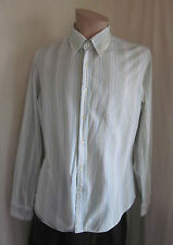 BENETTON Men's Multi-Color Long Sleeve Shirt S Small MADE IN ITALY