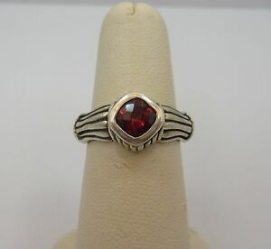 image is loading sterling silver engagement ring princess red garnet wedding - Garnet Wedding Ring