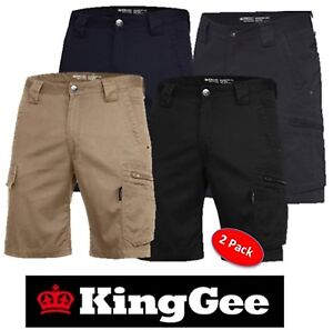 3 X MENS TRADIES CONSTRUCTION NAVY MID-WEIGHT SLANTED POCKET CARGO WORK SHORTS