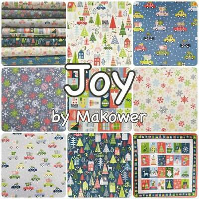 Joy Cars Blue Cotton Fabric  Fat Quarter Makower