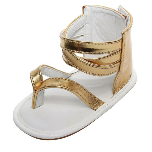 Toddler Baby Girls Beach Leather Rubber Sole Summer Sandals First Walkers Shoes