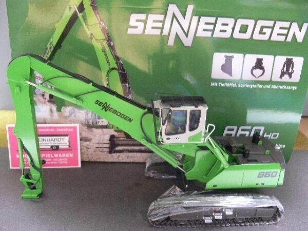 1 50 NZG 892 material sobre máquina sennebogen 860 HD + accesorios