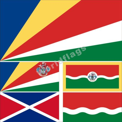 Seychelles Flag 3X5 3X6FT Historical National State Provinces Presidential
